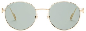 Cartier Premiere De Round Metal Sunglasses - Gold