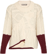 Preen Line Aran-knit multicoloured sweater