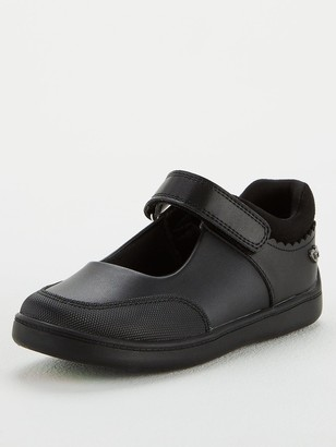Very ToeZone at Younger Girls Matt Leather School Shoe - Black