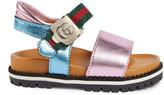 Gucci Toddler metallic lug sole sandal