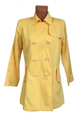 Oscar de la Renta Yellow Cotton Trench coats