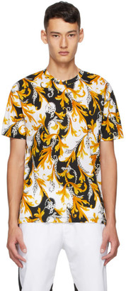 Versace White and Gold Acanthus Taylor T-Shirt
