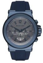 Michael Kors Dylan Navy Silicone Chronograph Watch