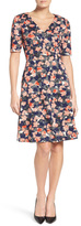 Donna Morgan D4664M Ink Print Pique Dress