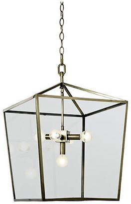 REGINA ANDREW 5-Bulb Camden Lantern - Soft Brass