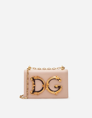 Dolce & Gabbana Nappa Leather Girls Shoulder Bag