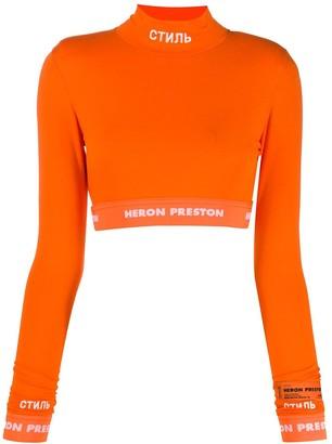 Heron Preston Mock Neck Logo Sweater