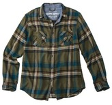 Mossimo Men's Flannel Shirt - Ivy Green Blue Plaid