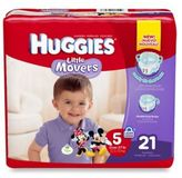 Huggies Little Movers Jumbo Pack Size 5 21-Count Disposable Diapers