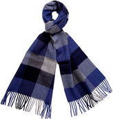One Kings Lane Men's Alpaca Wool Check Scarf, Cobalt