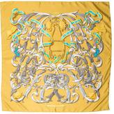Hermes Les Mors a la Conetable Silk Scarf