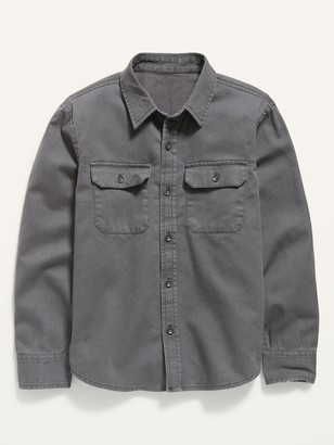 Old Navy Long-Sleeve Twill Utility Shirt for Boys
