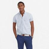 J.Crew Short-sleeve shirt in end-on-end cotton-Irish linen