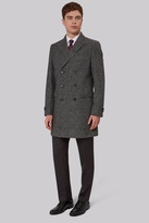 French Connection Tailored Fit Grey Semi Plain Overcoat