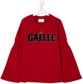 Gaelle Paris Kids flared sleeve shirt with appliqué