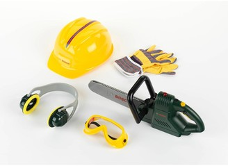 Bosch Mini Toy Chainsaw, Helmet and Work Gloves