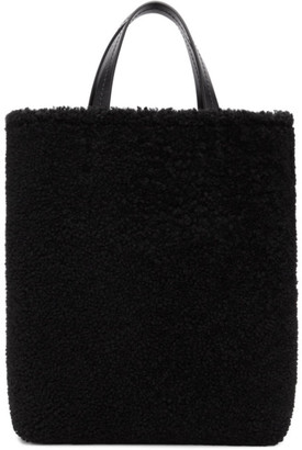 Off-White Black Shearling Montone Tote