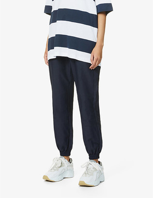 Won Hundred Olivia tapered-leg high-rise shell jogging bottoms