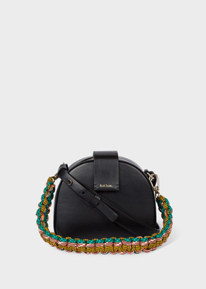 Paul Smith Women's Black 'Climbing Rope' Leather Mini Case Cross-Body Bag