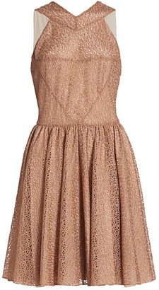 Alaia Tulle Macrame Sleeveless Mini Dress