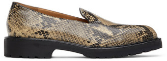 Dries Van Noten Beige Snake Loafers