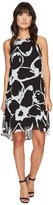 Vince Camuto Sleeveless Cut Out Floral Chiffon Overlay Dress Women's Dress