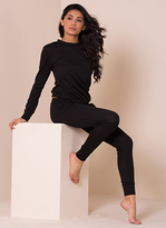 Missy Empire Casa Black Fine Knit Loungewear Tracksuit