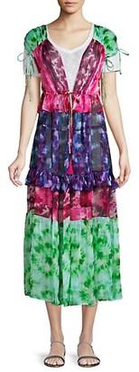 NFC Capri Tiered Tie-Dye Kimono