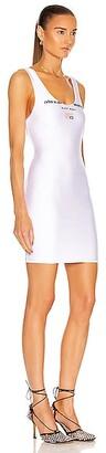 alexanderwang.t Scoop Neck Low Back Tank Dress in White