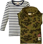 Scotch & Soda Kids 2-in-1 Sweat With Inner Tee (Kid) - Multicolor - 4