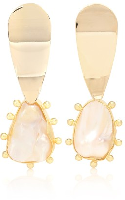 PEET DULLAERT Una 14kt gold plated earrings with baroque peals