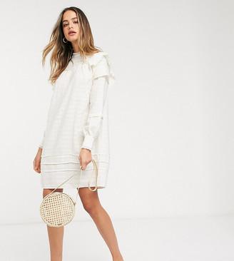 Vero Moda Tall textured smock dress in cream