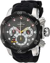 Invicta Men's 'Disney Limited Edition' Quartz Stainless Steel and Silicone Casual Watch, Color: (Model: 23166)