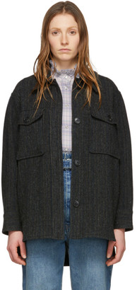 Etoile Isabel Marant Black Wool Garvey Jacket
