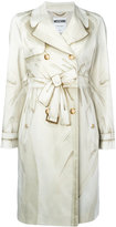 Moschino illusion print coat - women - Cotton/Acetate/Viscose/other fibers - 40