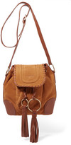 See by Chloe Polly Taseled Leather-trimmed Suede Shoulder Bag - Tan