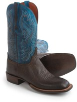"Lucchese Miller Cowboy Boots - 12"", Bison Leather, Square Toe (For Men)"