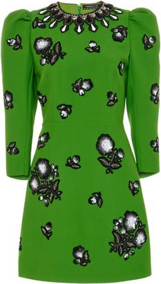 Andrew Gn Embellished Crepe Mini Dress