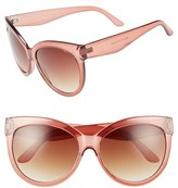 BP Women's 58Mm Cat Eye Sunglasses - Pink