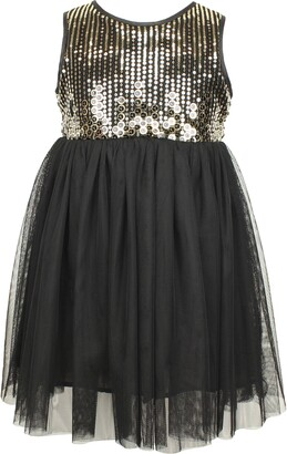 Popatu Sequin Sleeveless Tulle Party Dress