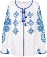 Vita Kin embroidered tassel top