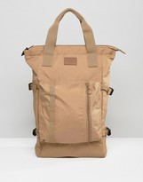 Asos Tote Bag In Camel With Strapping
