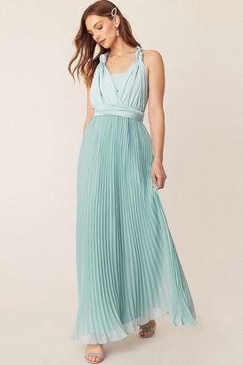 Oasis Wear It Your Way Pale Green Maxi Dress