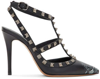 Valentino Black Garavani Undercover Edition Rockstud Heels