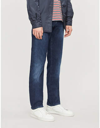 BOSS Faded-wash slim-fit jeans