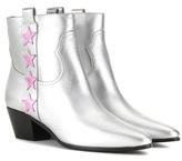 Saint Laurent Rock 40 Star Metallic Leather Boots