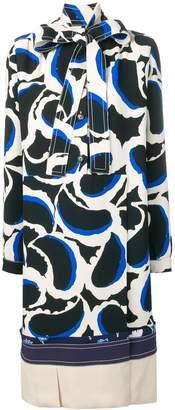 Marni graphic print shift dress