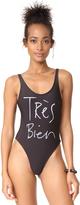 CHRLDR Tres Bien One Piece Swimsuit