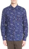 Michael Stars Men's Trim Fit Print Sport Shirt