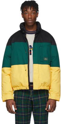 Aimé Leon Dore Black and Green Down Woolrich Edition Jacket